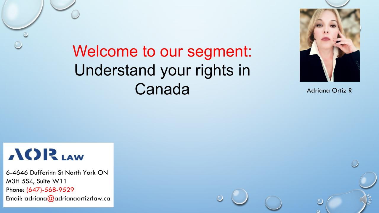 Your rights in Canada English01